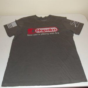Grunt Style Tee Shirt Size L Brown 100% Cotton